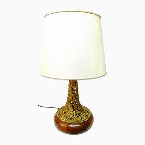 Lampada da tavolo vintage in bronzo di Angelo Brotto per Esperia, 1977