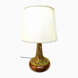 Vintage Bronze Table Lamp by Angelo Brotto for Esperia, 1977