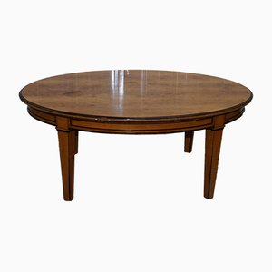 Antique Swedish Biedermeier Solid Birch Oval Dining Table
