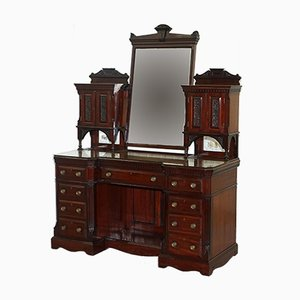 Large Victorian Mahogany Dressing Table