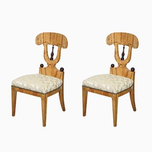 Vintage Swedish Birch Chairs, Set of 2