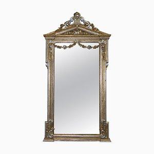 Specchio vittoriano antico color oro e argento