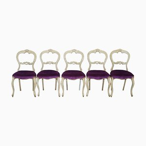 Victorian French Dining Chairs, Set of 5