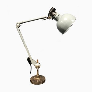 Industrial German Grey Table Lamp by Ernst Rademacher, 1930s