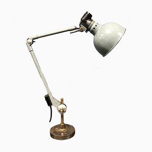 Lámpara de mesa alemana industrial en gris de Ernst Rademacher, años 30