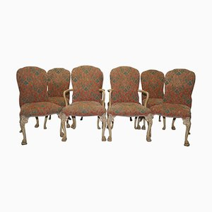 Art Deco Walnut Dining Chairs, Set of 8