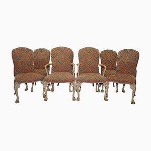 Sedie da pranzo Art Deco in noce, set di 8