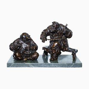 Antike chinesische Bronzestatue von Aug Mariton