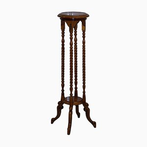 Vintage Tall Fruitwood Stand, 1920s