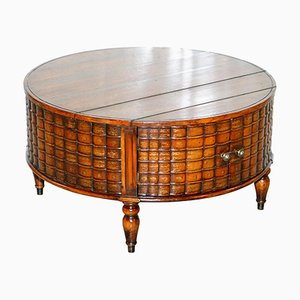 Antique Regency Style Drum Coffee Table from Theodore Alexander