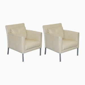 Jason 391 Cream Leather Armchairs from Walter Knoll, 1980s, Set of 2