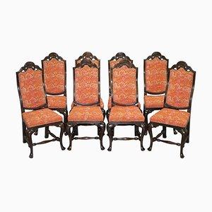 Antike Esszimmerstühle von House of Spain, 8er Set
