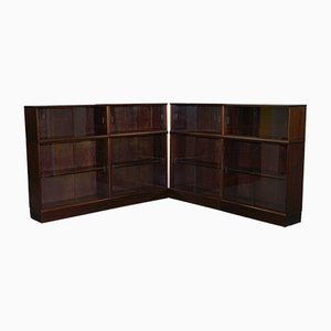 Modular Mahogany Bookcases, 1980s, Set of 4