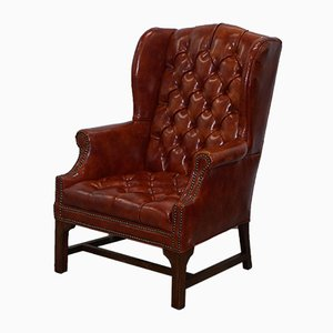 Vintage Chesterfield Wingback Armchair