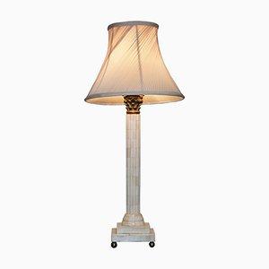 Lampe mit Fuß in korinthischer Säulen-Optik, 1920er