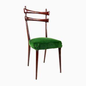Italian Velvet Dining Chairs, Set of 6