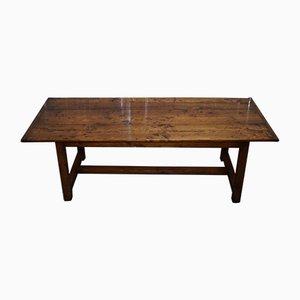Französischer Esstisch aus Obstholz, 1980er