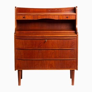 Danish Teak Vanity Cabinet with Drawers and a Writing Desk, 1960s