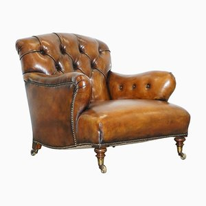 Early Victorian Walnut Armchair from Howard and Son's