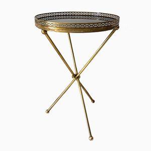 Brass Pedestal Table, 1950s