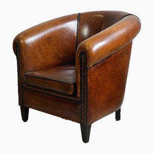 Vintage Dutch Leather Children's Armchair from Lounge Atelier, 1980s