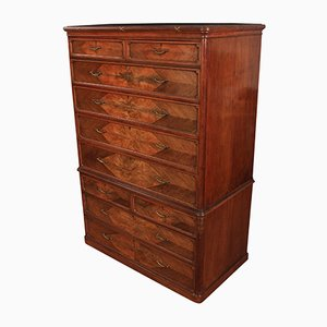 19th Century French Walnut Chest on Chest