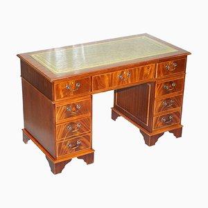 Antique Mahogany Twin Pedestal Partner Desk