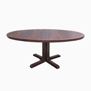 Oval Danish Rosewood Dining Table from Skovby, 1960s