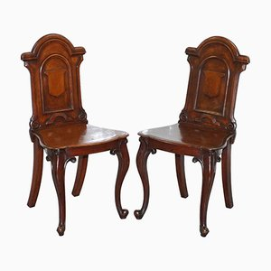 Regency Mahogany Hall Chairs, 1830s, Set of 2
