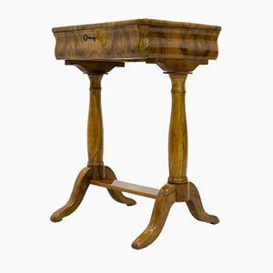 Antique Biedermeier Side Table, 1830s