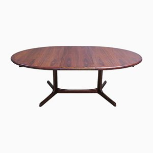 Oval Danish Rosewood Dining Table from Dyrlund, 1960s