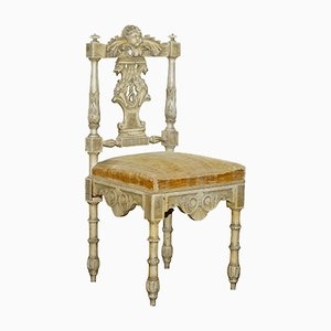 Antique French Carved Occasional Chair
