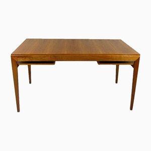 Architekten-Schreibtisch aus Nussholz, 1960er