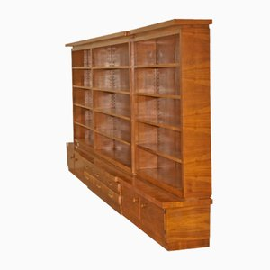 Large Mid-Century Walnut Bookcase, 1960s