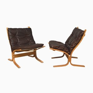 Siesta Lounge Chairs by Ingmar Relling for Westnsofa, 1960s, Set of 2