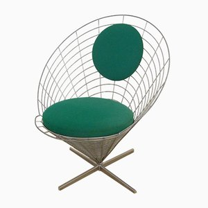 Danish Wire Cone Chair by Verner Panton for Plus-Linje, 1958