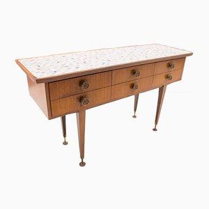 Italian Wood & Mosaic Dresser, 1950s
