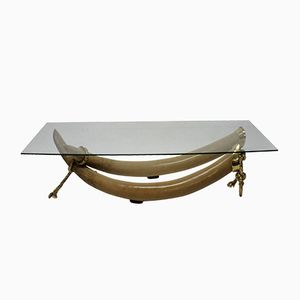 Faux Tusk Coffee Table by S. T. Valenti, 1970s