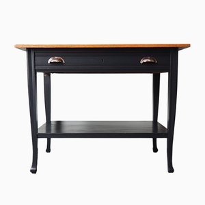 Vintage Solid Oak Console Table, 1950s