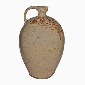Large Enamelled Stoneware Jug by Saint Chamond, 1880s