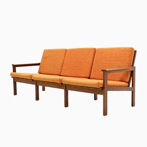 Teak 3-Seater Capella Sofa by Illum Wikkelsø for Niels Eilersen, 1960s