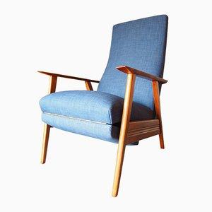 Poltrona vintage reclinabile, Danimarca, anni '60