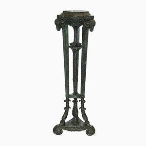 Support Tête de Bélier Antique en Bronze