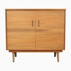 Walnut Veneer Shoe Cabinet, 1950s
