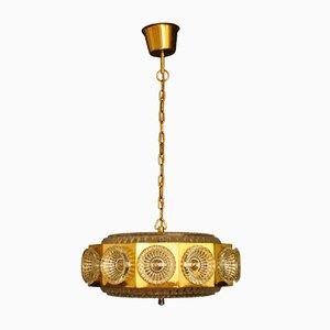 Lámpara colgante vintage de Bohemia Glass