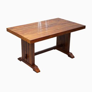 Solid Wood Dining Table, 1980s