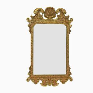 Specchio Giorgio III antico in legno dorato, inizio XIX secolo