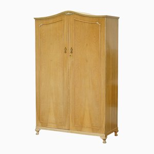 Large Antique Satin Walnut Wardrobe