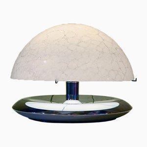 Lampada da tavolo in vetro di Murano e acciaio di Mazzega, anni '70