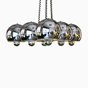 Chromed Chandelier from Reggiani, 1970s